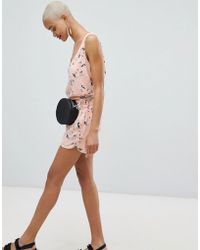 Pieces - Floral Short Co-ord - Lyst
