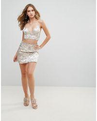 Wyldr - Printed Satin Mini Skirt - Lyst