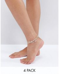 ALDO - Delicate Stacking Anklets - Lyst