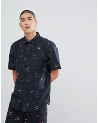 ac2228c87d Vans Daintree Hawaiian Shirt In Black Va315tkvr in Black for Men - Lyst