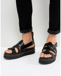 Dr. Martens - Terry Strap Sandals In Black - Lyst