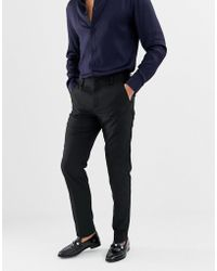 French Connection - Plain Slim Fit Trousers - Lyst