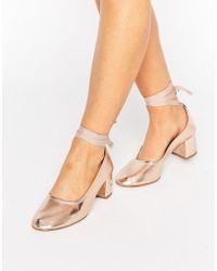 KG by Kurt Geiger - Kg Treacle Ankle Tie Heel Shoe - Lyst