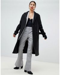 NA-KD - Tie Sleeve Tailored Coat In Black - Lyst