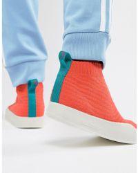 adidas Originals - Adilette Primeknit Sock Summer Trainers In Orange Cm8227 - Lyst