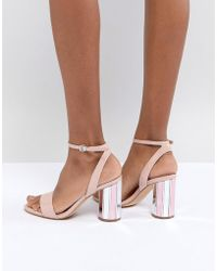 ALDO - Two Part Ankle Strap Going Out Show With Mirror Heel - Lyst