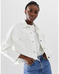 Weekday - Denim Jacket In White - Lyst