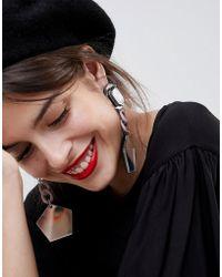 ASOS | Design Statement Mirror Drop Resin Earrings | Lyst