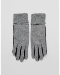 French Connection - Conseuelo Two Tone Wool Blend Gloves - Lyst