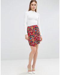 Madam Rage - Madam Floral Bodycon Skirt - Lyst