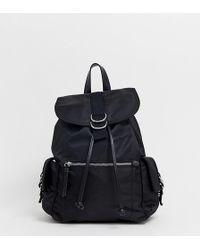 Pull&Bear - Nylon Backpack In Black - Lyst