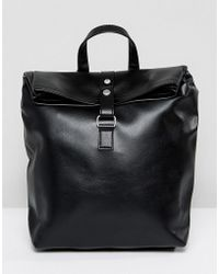 Pieces - Foldover Backpack - Lyst