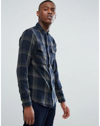 Only & Sons - Shirt In Regular Fit Heavy Cotton Check - Lyst