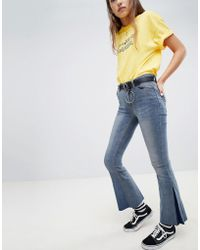 Daisy Street - Flare Jeans With Belt - Lyst