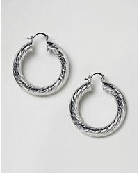 ASOS | Faceted Tube Hoop Earrings | Lyst