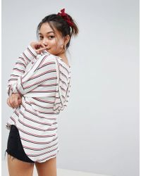 Honey Punch - Oversized Ribbed Festival Hoodie - Lyst
