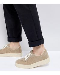 ASOS - Sneakers In Stone With Chunky Sole - Lyst