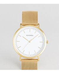 Sekonda - Gold Mesh Watch With White Dial Exclusive To Asos - Lyst