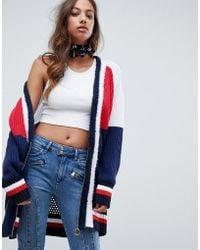 Tommy Hilfiger - X Gigi Hadid Colourblock Cardigan With Circle Zip Puller - Lyst