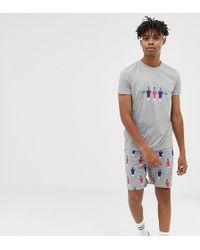 ASOS - Pyjama Set In Table Soccer Print - Lyst