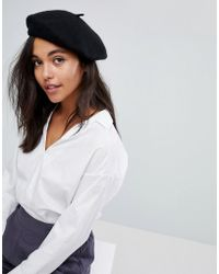 ONLY - Wool Beret - Lyst