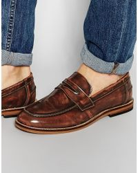 ASOS - Wide Fit Loafers In Tan Leather - Tan - Lyst