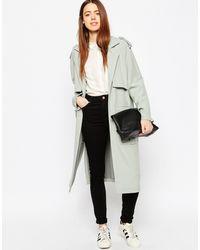 ASOS - Boyfriend Coat With Utility Detail Pockets - Lyst