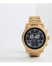 Michael Kors - Access Mkt5026 Grayson Bracelet Smart Watch In Gold - Lyst