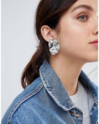 Weekday - Large Statement Earring In Silver - Lyst