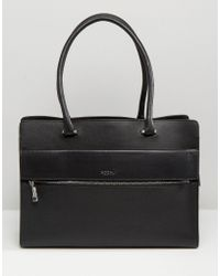 Modalu - Leather Structured Tote Bag - Lyst