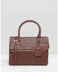 Modalu - Leather Mini Tote Bag - Claret Red - Lyst