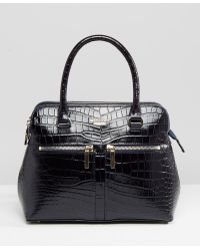 Modalu - Leather Mock Croc Mix Pippa Tote Bag - Lyst