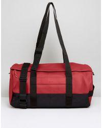 Rains - Duffle Bag In Scarlet - Lyst