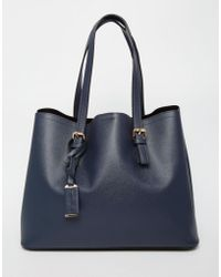 Warehouse - Double Buckle Detail Tote - Lyst