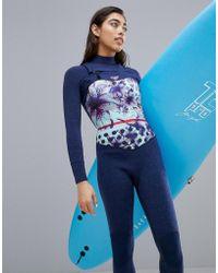 Roxy - Pop Surf Full Zip Gbs Surfsuit - Lyst