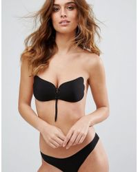 ASOS DESIGN - Lace Up Cleavage Boost Backless Stick On Bra - Lyst