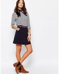 Esprit - Button Up Mini Skirt - Lyst