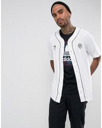 adidas Originals - Baseball Shirt In White Br3983 - Lyst