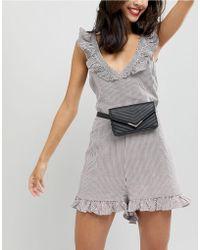 New Look - Quilted Envelope Purse Belt - Lyst