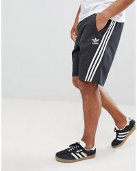 adidas Originals - Nova Shorts With Pinstripe In Black Ce4850 - Lyst