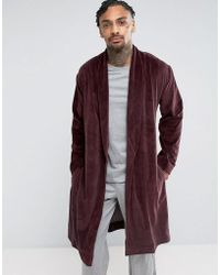 ASOS - Dressing Gown In Velour - Lyst