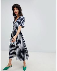 Stradivarius - Wide Stripe Dress - Lyst