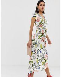 AX Paris Платье Макси С Цветочным Принтом - Кремовый - Многоцветный