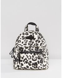 Claudia Canova - Leopard Print Mini Backpack - Lyst