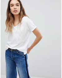 Pull&Bear - Oversized V-neck T-shirt - Lyst