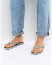 Volcom - Rocker Flip Flops In Gray - Lyst