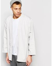 WÅVEN - Kimono Jacket Imma Mink Gray - Lyst