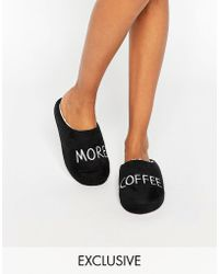 Daisy Street - More Coffee Slippers - Lyst