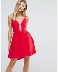 MAJORELLE - Gallup Dress In Red - Lyst