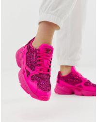 adidas Originals - Premium Pink Glitter Falcon Trainers - Lyst